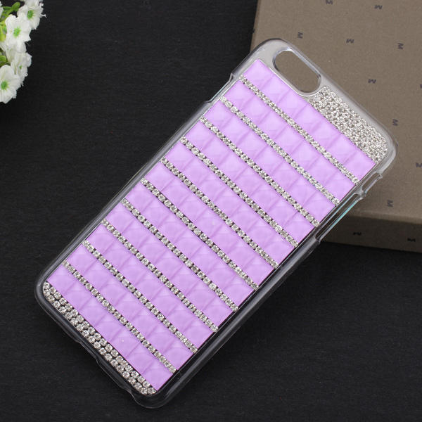 Hot Luxury Bling Crystal Rhinestone Cover Veske til iPhone 6 Plus