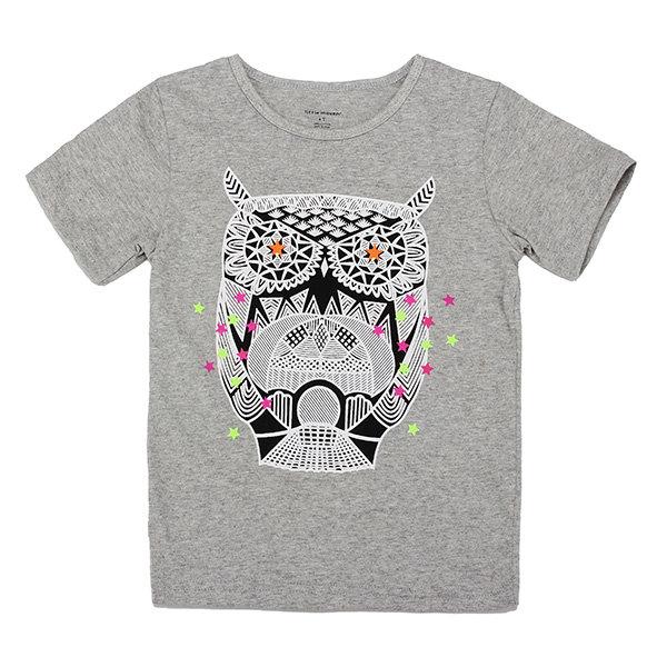2015 New Little Maven Đáng yêu Owl Baby Children Boy Cotton Cotton Áo thun ngắn tay hàng đầu