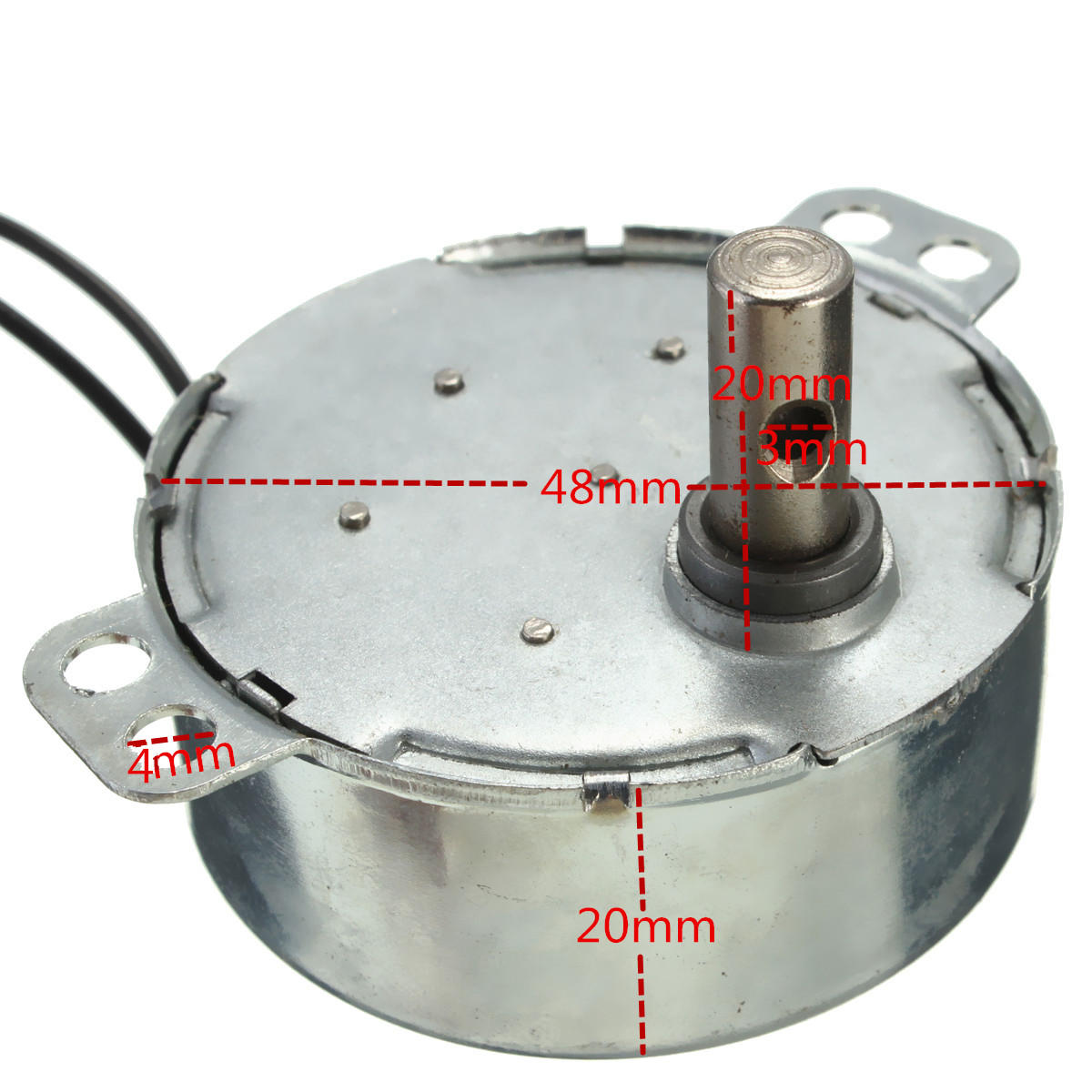 AC Synchronous Gear Motor 220-240V CW 8RPM 50//60HZ for Oven Small Fans