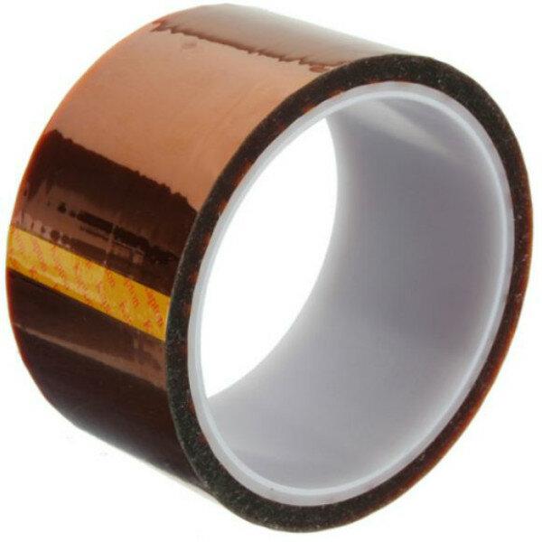 Картинка - Полиимидная высокотемпературная термостойкая лента Excellway 50 мм x 30 м