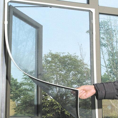 Negro Ventana Anti Mosquito Plagas Pantalla de Malla de Red Protector de Cortina