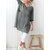 Casual Women Solid Color Plain 3/4 Sleeve Dress