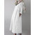 Women Retro Half Sleeve Solid Color Cotton Dress with Pockets