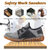 Hiking Steel Toe Puncture Proof Safety Mesh Slip Resistant Work Shoes