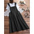 Women Solid Color Sleeveless Loose Side Pockets Dress