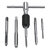 6pcs M3-M8 Tap Drill Set T Handle Ratchet Tap Wrench Machinist Tool With Screw Tap Hand