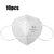 10 Pcs KN95 3D Masker Wajah Lipat 4-layer Tahan Debu non-woven Filter Udara Pernapasan Masker Pelindung