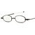 Unisex 360 Degree Rotating Full Metal Frame Anti-blue Light Anti-UV Plus Film Resin Reading Glasses