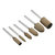 HILDA 3mm Shank Cowhide Mounted Grinding Head Polishing Wheel Set for Electric Grinder Rotary Tool