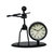 Band Clock Sets Retro Wrought Iron Clock Personality Living Room Study Room Decor Desktop Watch Home Bedroom Decorative Clock