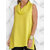 Women Cotton Sleeveless Split Hem Solid Casual Tank Tops