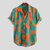 Mens Contrast Color Blocks Design Summer Loose Casual Fashion Printing Shirts