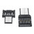 2Pcs USB-C 3.1 Type C Male to USB Female OTG Adapter Converter for Game Controller Mobile Phone Tablet