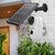 GUUDGO A3とソーラーパネル1080Pワイヤレス充電式電池式セキュリティカメラ屋外用屋内家庭用監視130°ワイドビュー2ウェイオーディオスターライトナイトビジョンPIRモーションセンサー