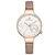 NAVIFORCE NF5001 Waterproof Elegant Women Wrist Watch Genuine Leather Strap Quartz Watch