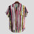 Mens Fashion Colorful Pockets Design Loose Short Sleeve Casual Shirts