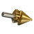 Drillpro 6pcs HSS Titanium Coated Step Drill Bit With Center Punch Drill Set Hole Cutter Drilling Tool