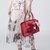Women Vintage Floral Handbag National Soft Leather Crossbody Bag