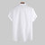 Men 100% Cotton Stand Collar Fresh Casual Plain Loose Short-sleeved T-shirts