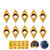 Drillpro 10pcs DCMT070204 Carbide Insert DCMT 0702 Cutter For for SDNCN Turning Tool Holder