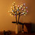 Solar Powered Round Ball Tree Branch Outdoor Waterproof LED String Holiday Light for Patio Decor