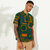 Mens Ethnic Style Printed Cotton Breathable Summer Henley Shirts T-shirts