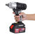 108VF 12800mAh Lithium-Ion Battery Cordless Electric Impact Wrench Drill Driver Kit