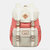Women Large Capacity Canvas Multi-Color Casual Patchwork Backpack Daily Bag