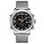 NAVIFORCE 9153 לוח תצוגה כפולה עמיד למים לוח שנה גברים שעון עסקי פלדה מלאה