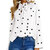 Chic Polka Dot Long Sleeve Lace-Up Casual Blouse For Women