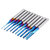 Drillpro Upgrade 10pcs 0.8-3mm Blue NACO Coating PCB Milling Cutter Engraving Carbide Bits for CNC Engraving Machine