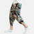 Mens Summer Loose Casual National Style Printed Elastic Waist Harem Pants