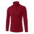 Men's Fall Winter Brief Style Solid Color Stand Collar Slim Fit Casual Knitted Sweater Cycling Sports Shirts