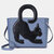 Women Multifunctional Large Capacity Cat Pattern Handbag Crossbody Bag