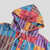 Mens Autumn Hooded Colorful Stripe Long Sleeve Casual Hoodies Sweatshirts