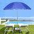 1.8m 8 Ribs Outdoor Beach Umbrella Adjustable Steel Poles Garden Patio Sunshade Parasol