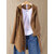 Side Button Long Sleeve Jacquard  Hooded Knit Coats
