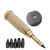 DIY Automatic Belt Hole Punch Leather Craft Accessories Rotary Punching Perforator with 6pcs Turn Head