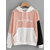 Color Matching Patchwork Long Sleeve Hooded Sweatshirt