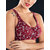 KISSLACE Plus Size Floral Printed Wireless Full Coverage Comfy Bra