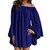 Women Holiday Solid Color Ruffle One Shoulder Casual Dress