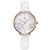 SHENGKE SK K9014 Flowers Pattern Elegant Dial Fashion Women Leather Strap Quartz Watch