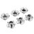 50Pcs Suleve™ CSTN2 Four Prong T Nut Insert Carbon Steel Zinc Plated For Wood M3/M4/M5/M6/M8/M10/M12