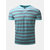 Summer Casual Mens Contrast Color Striped Golf Shirt Stand Collar Soft Cotton T-shirt