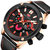 MINIFOCUS 0288G Fashion Business Men Watch Waterproof Luminous Leather Strap Quartz Watch