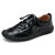 Menico Men Hand Stitching Non Slip Elastic Lace Soft Sole Casual Leather Oxfords
