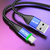 USLION US0128 3A LED Nylon Fast Charging Type-C Data Cable for Samsung S10+ Xiaomi Redmi Note8 HUAWEI P30 Pro