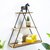 3 Layers Wooden Retro Storage Racks Iron Hanging Wall Triangle House Shelf Bookshelf Decorations Display Stand Shelves for Office Home Living Room Bedroom
