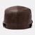 Men's PU Leather Beret Caps Casual Newsboy Cap Warm Hats