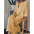 Solid Color V-neck Loose Long Sleeve Plus Size Maxi Dress